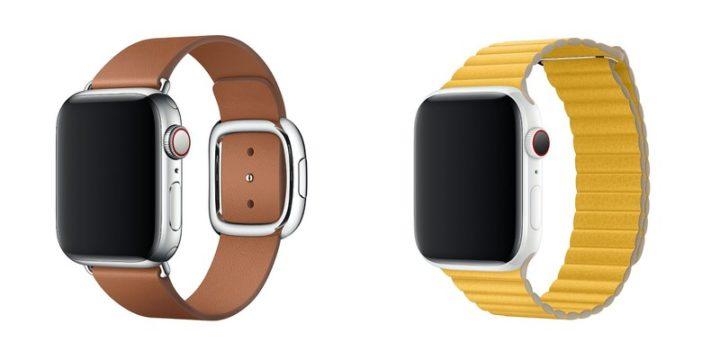 Apple Watch バンド 「モダンバックル(40mmのみ)」と「レザーループ(44mmのみ)