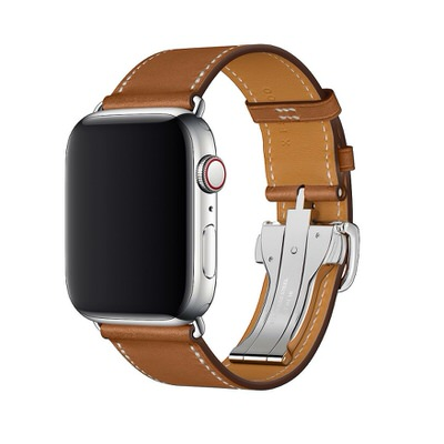 Apple Watchバンド 「シンプルトゥールディプロイアントバックルレザーストラップ」