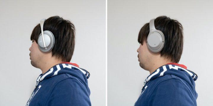 NCH700とWH-1000XM3の装着感を比較