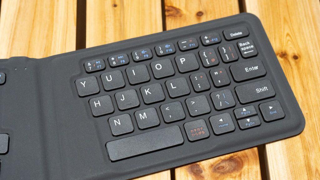 iClever BK06 折りたたみ式キーボード キーピッチは19mmとフルキーボード並み