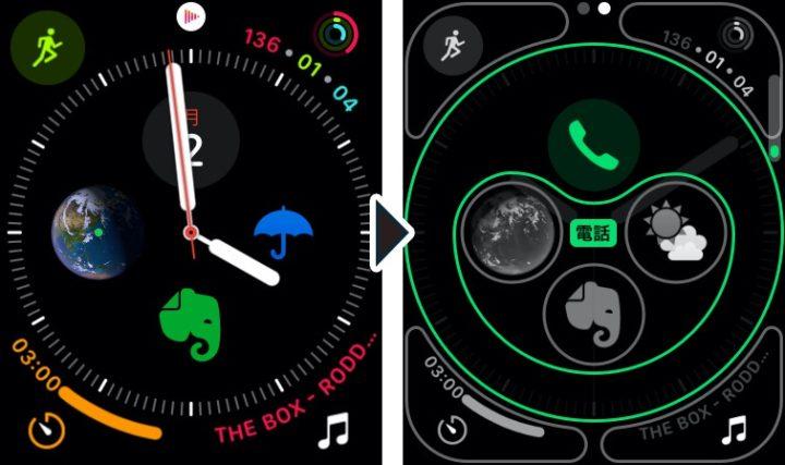 Apple Watch コンプリケーションのカスタマイズ