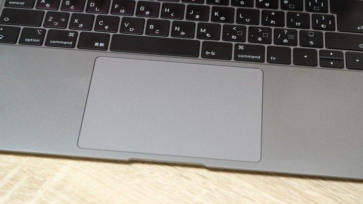 MacBookのトラックパッド
