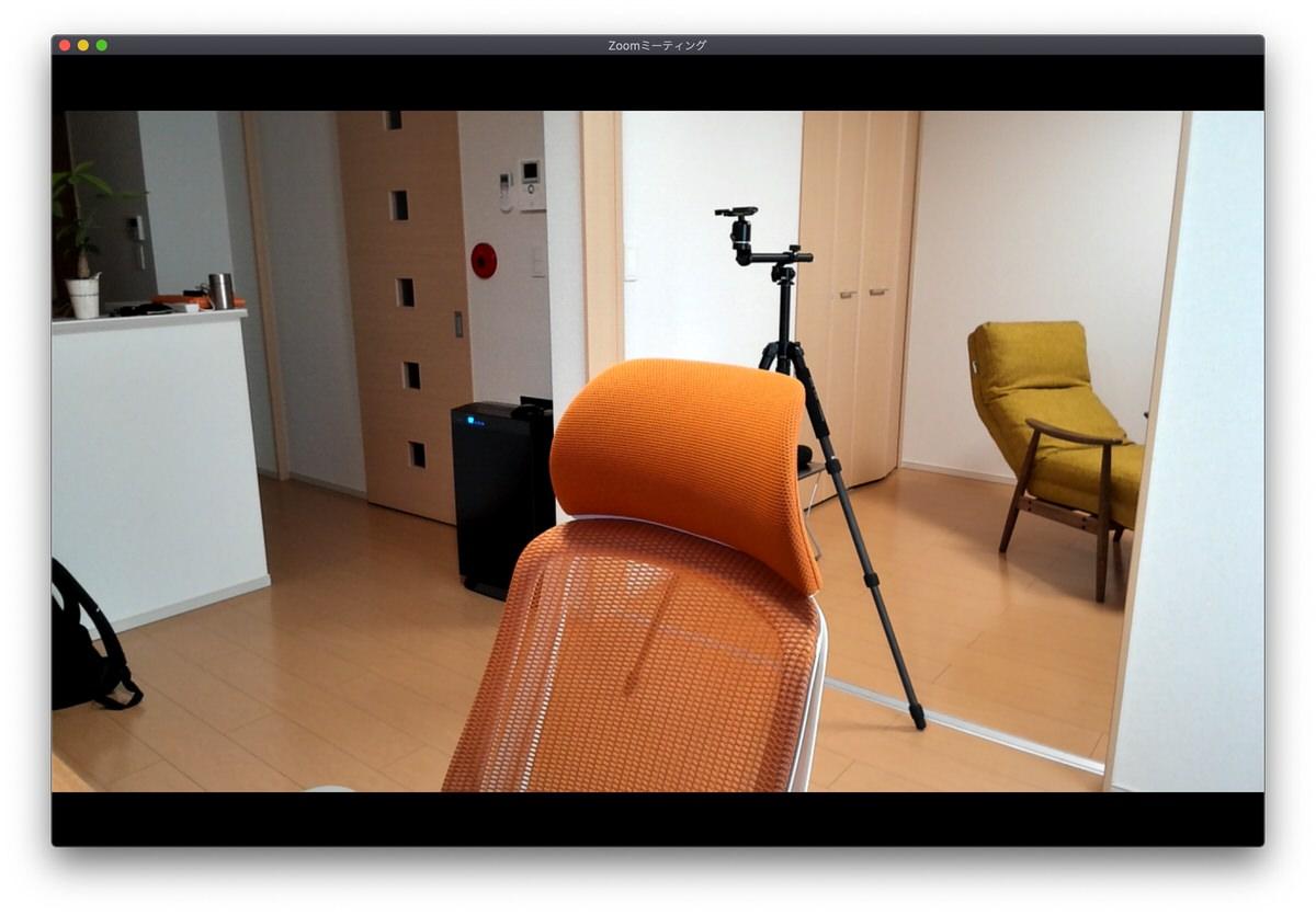 LG UltraFine 5K Display内蔵のカメラで撮影