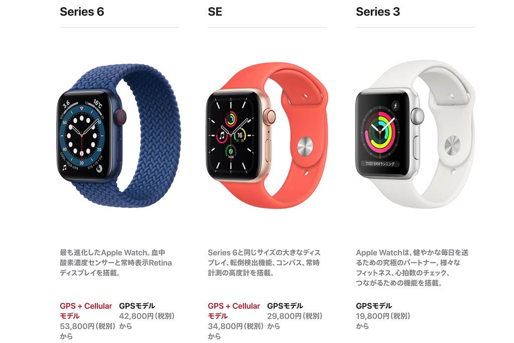 Apple Watchの新しいラインアップ