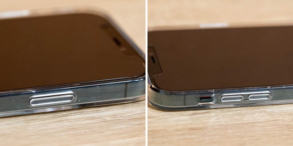 MagSafe対応クリアケース ボタンが硬くなる