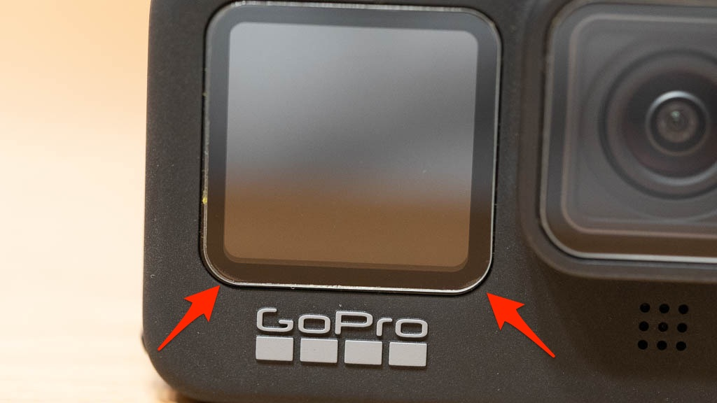 GoPro HERO9に保護フィルムを貼り付け6