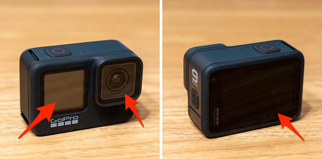 GoPro HERO9に保護フィルムを貼り付け