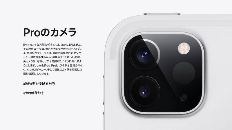 iPad Proのデュアルカメラ