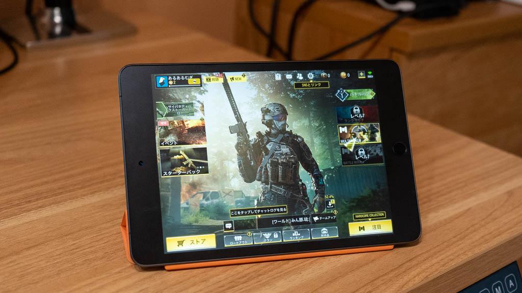 iPad mini(第5世代)でゲームをプレイ
