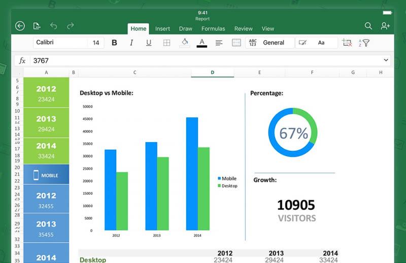 iPad Excelアプリ