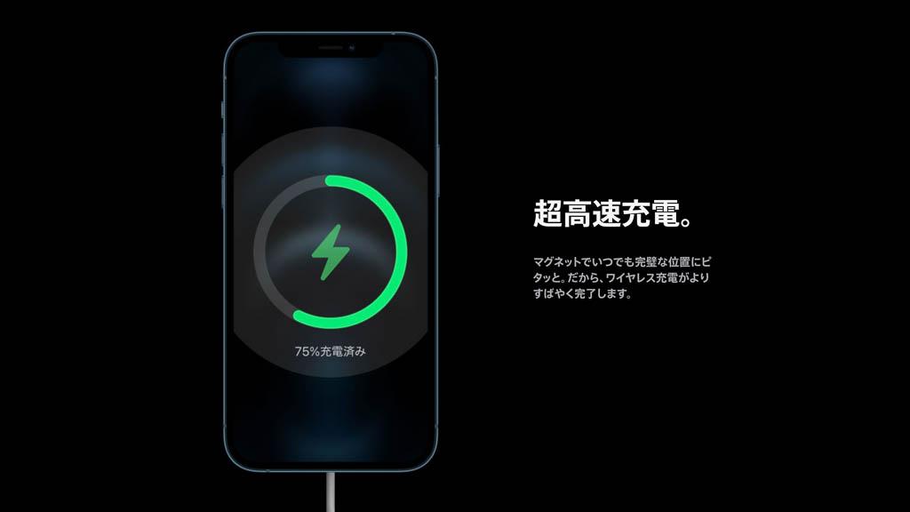 MagSafe充電器の高速ワイヤレス充電