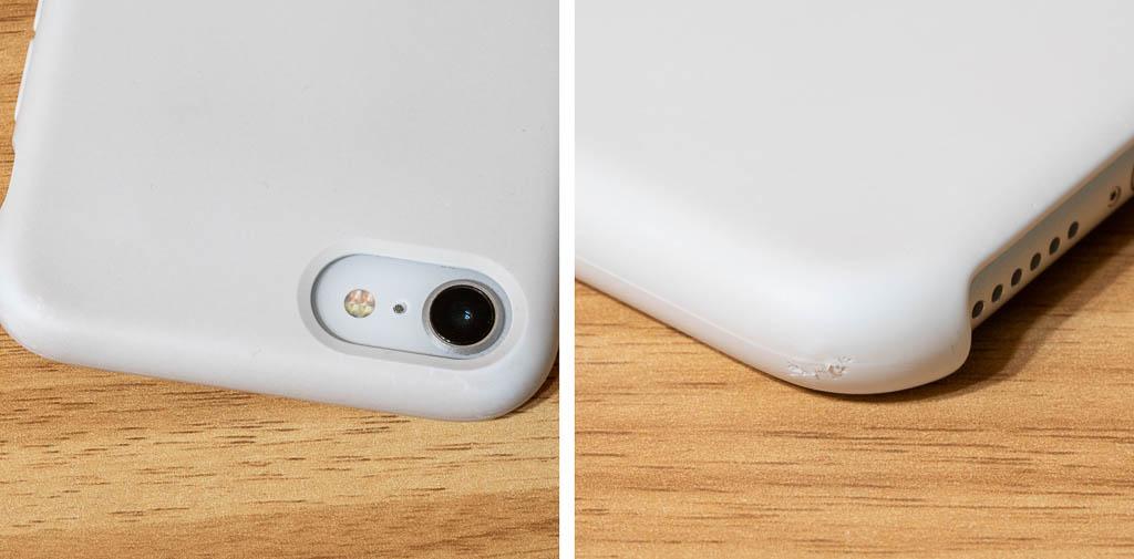 Apple シリコンケースの汚れと欠け