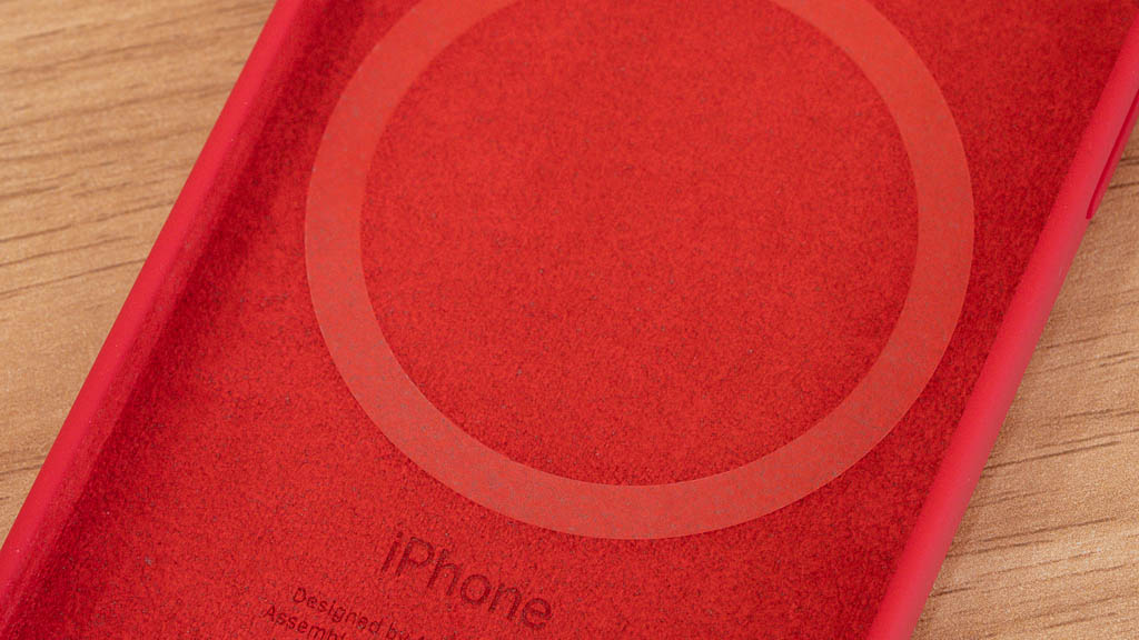 Apple MagSafe対応シリコンケースの裏面