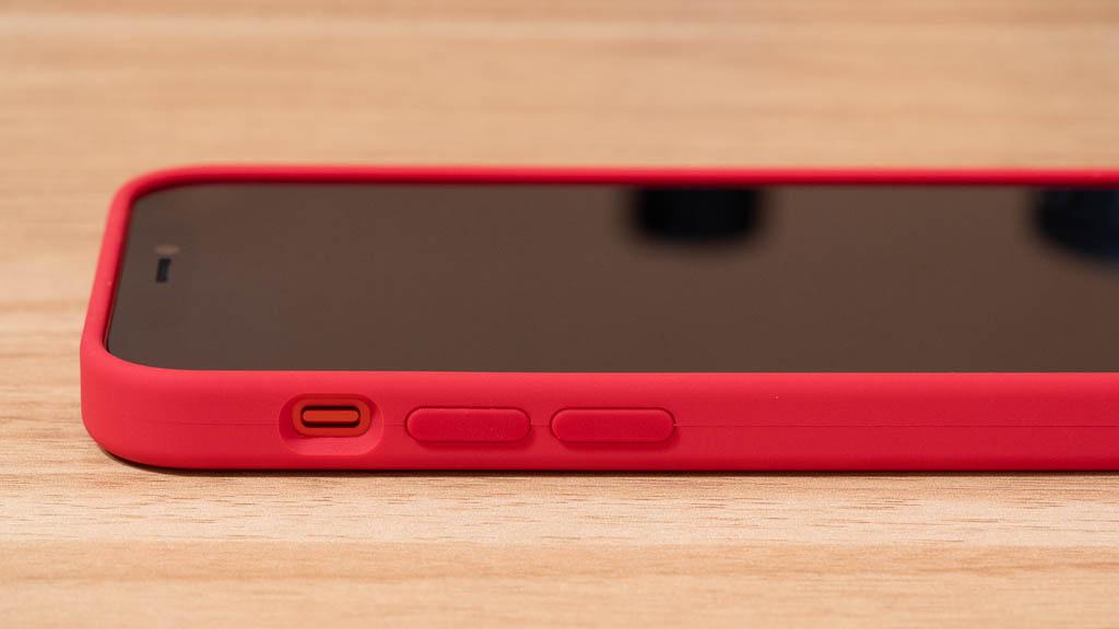 Apple MagSafe対応シリコンケース サイドボタン