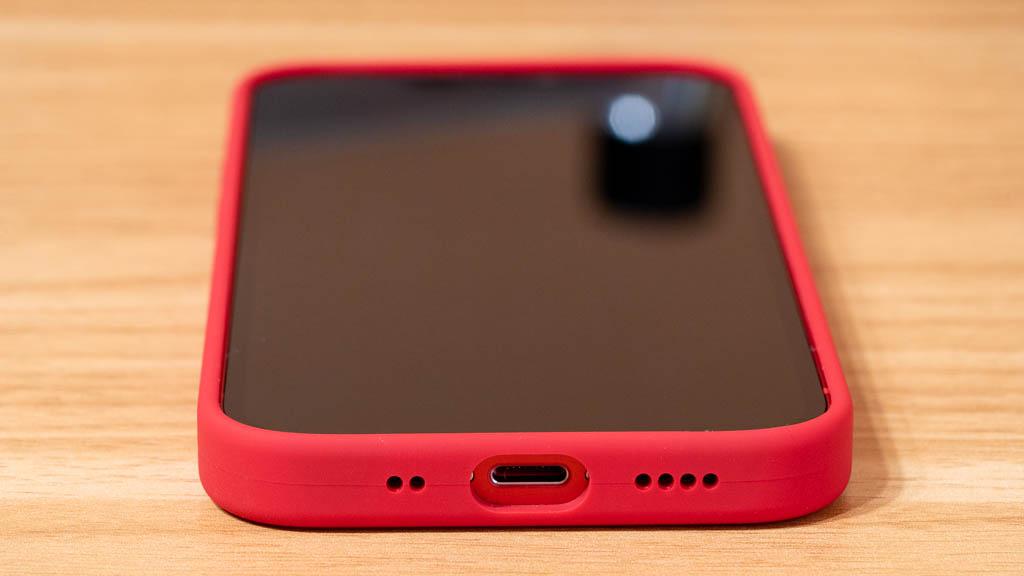 Apple MagSafe対応シリコンケース スピーカーホール