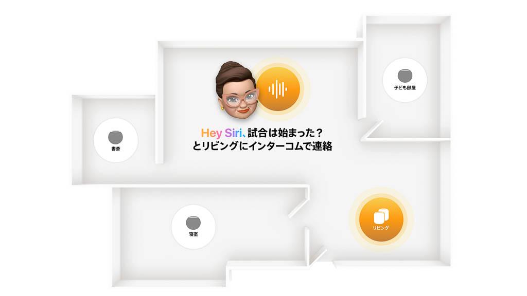 HomePod mini インターコム機能