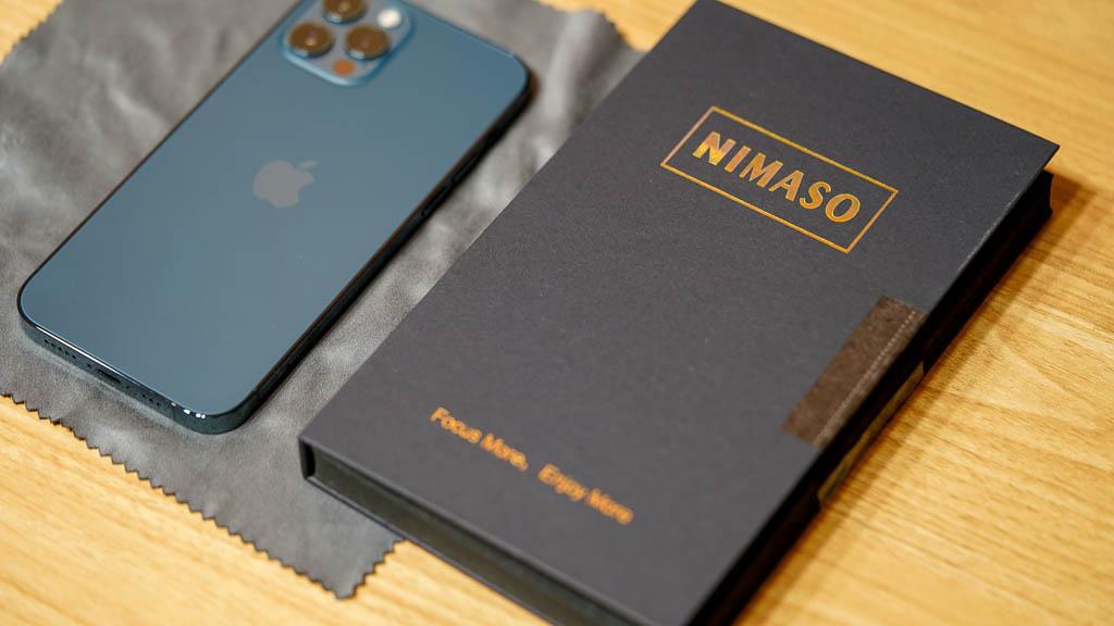 【NIMASO】コスパ良し!ガイド枠付きガラスフィルム