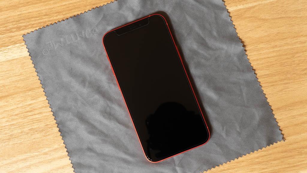 NIMASO ガラスフィルム iPhone 12 mini 貼り付け
