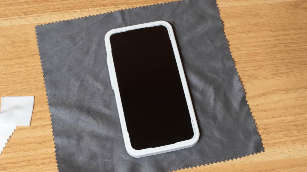 NIMASO ガラスフィルム iPhone 12 mini ガイド枠