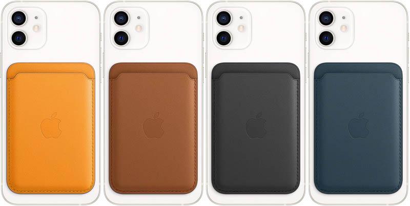 MagSafe対応iPhoneレザーウォレットのカラーラインアップ