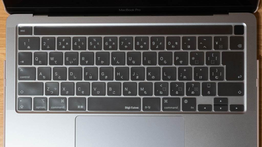 MacBook キーボードカバー 装着時