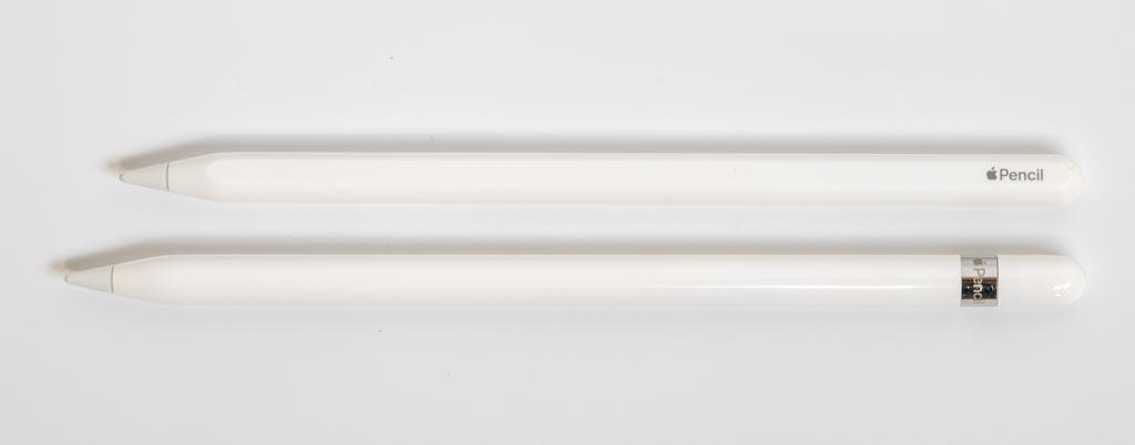 第1世代Apple Pencilと第2世代Apple Pencil
