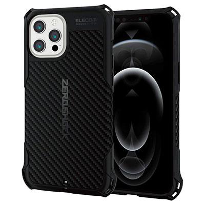 【エレコム】ZEROSHOCK 耐衝撃ケース iPhone 12 Pro Max