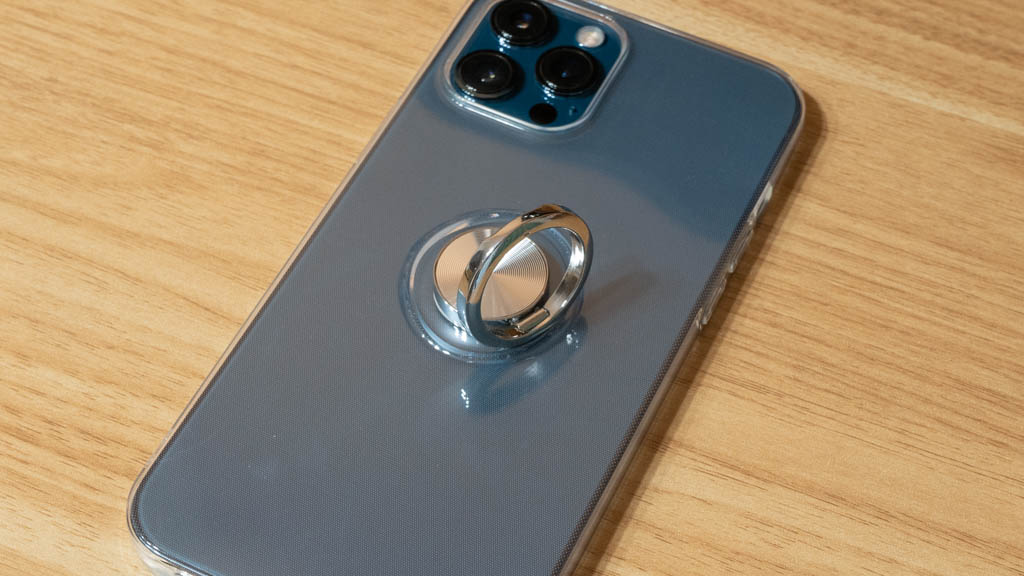 Zabarsii スマホリング搭載クリアケース iPhone 12 Pro