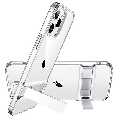 【ESR】便利!キックスタンド機能搭載のクリアケース iPhone 12 Pro Max