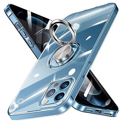 【Zabarsii】スマホリング搭載クリアケース iPhone 12 Pro Max