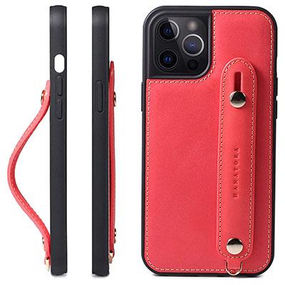 【HANATORA】フィンガーベルト搭載の本格レザーケース iPhone 12 Pro Max