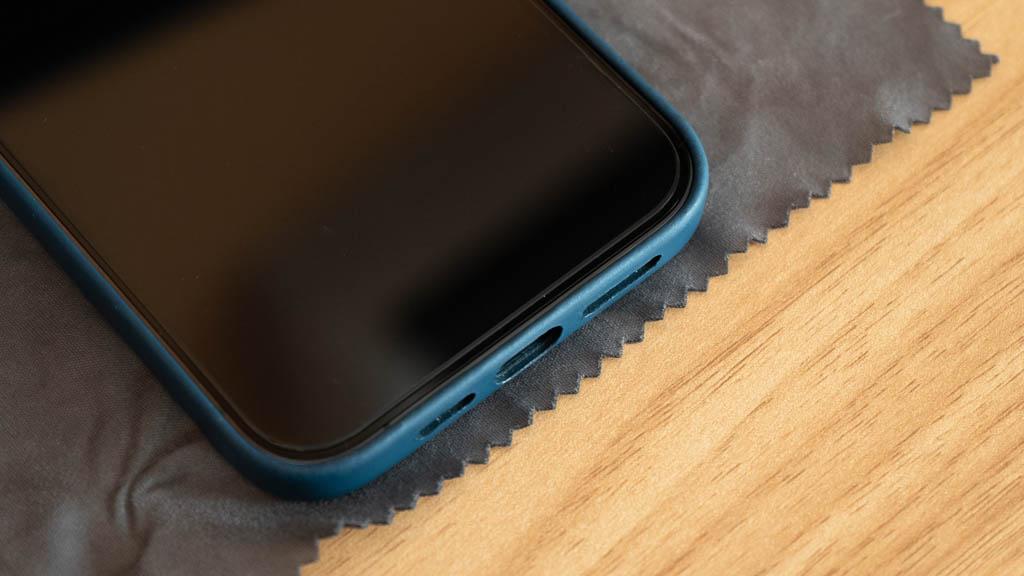 【NIMASO】ガイド枠付きガラスフィルム(グレアタイプ) iPhone 12 Pro Max 6