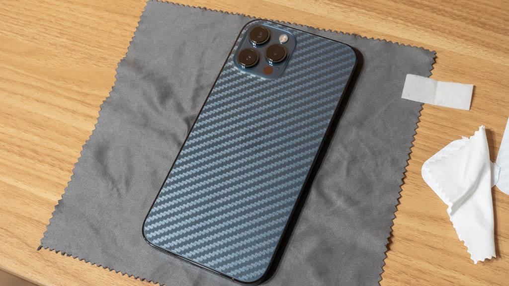 【Maxku】裸派におすすめ!背面用 保護フィルム iPhone 12 Pro Max 貼り付け完了