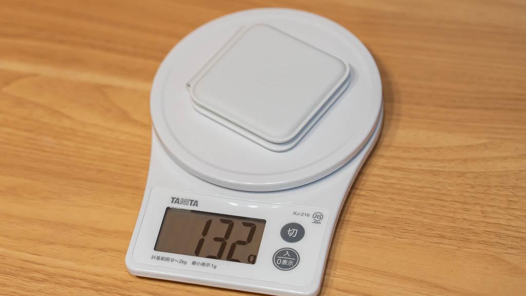 MagSafeデュアル充電パッドの重量