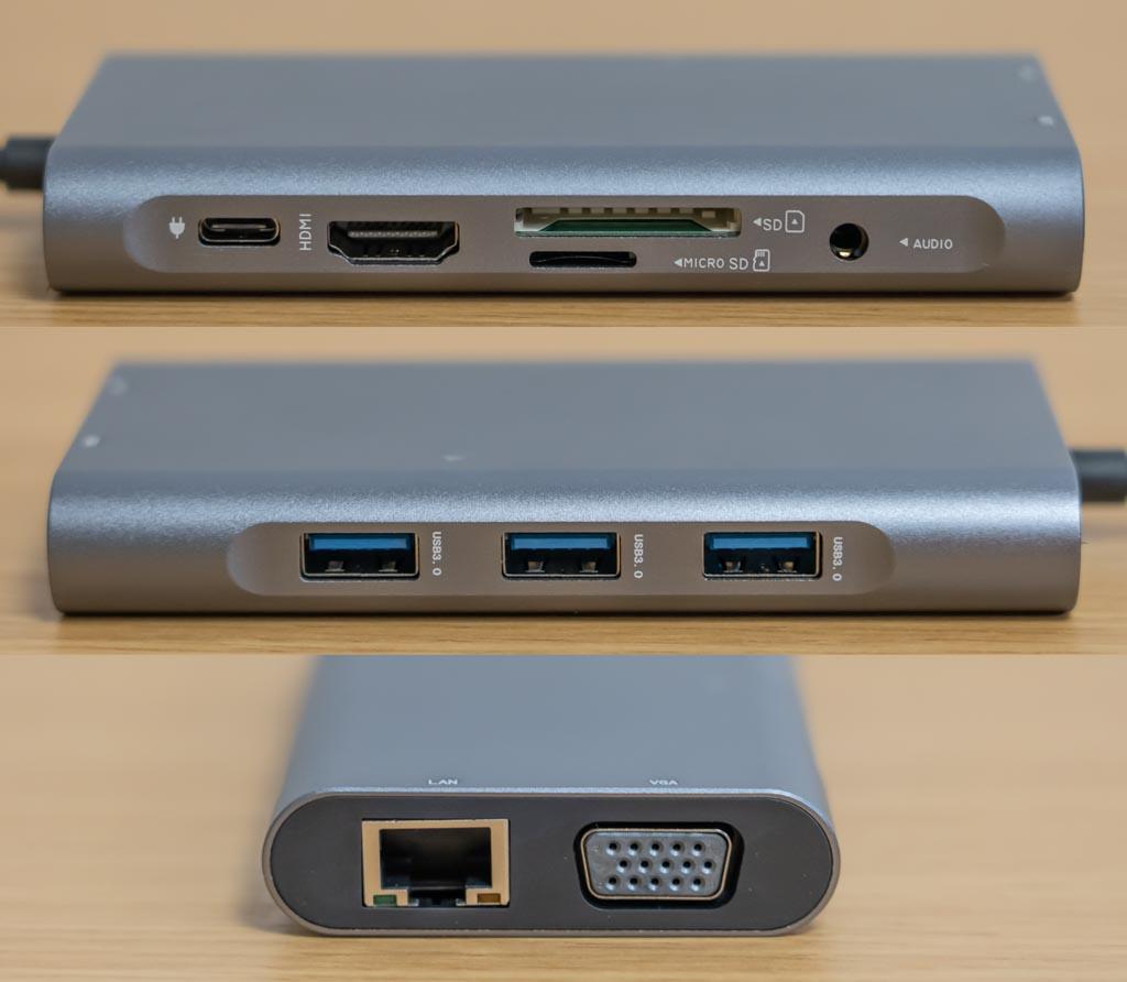 Beyeah 10 in 1 USB-Cハブ 搭載ポート