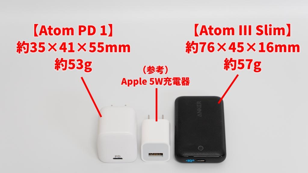 Anker PowerPort Atom PD 1とPowerPort Atom III Slim