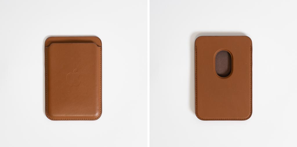 Apple MagSafe対応レザーウォレットのカード収納