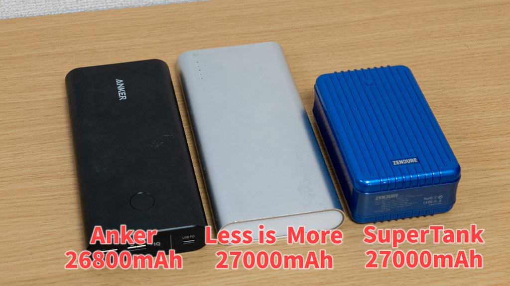 Zendure SuperTank サイズ比較