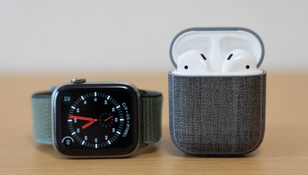 Apple Watchにイヤホンを接続して電話通話