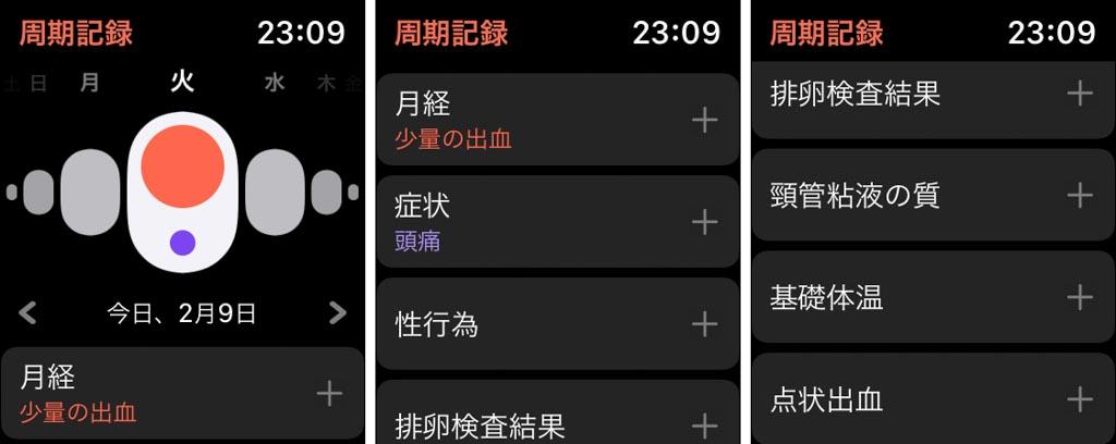 Apple Watchの「周期記録」アプリ