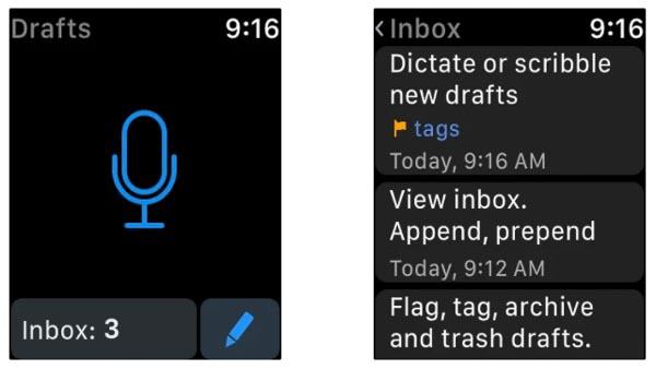 Drafts【Apple Watchからの音声テキスト入力が秀逸】