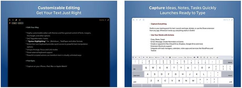 Drafts┃とりあえず放り込んでおく、が便利 iPadおすすめアプリ