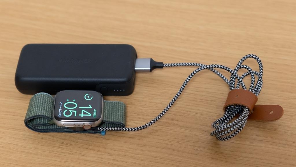 モバイルバッテリーでApple Watchを充電