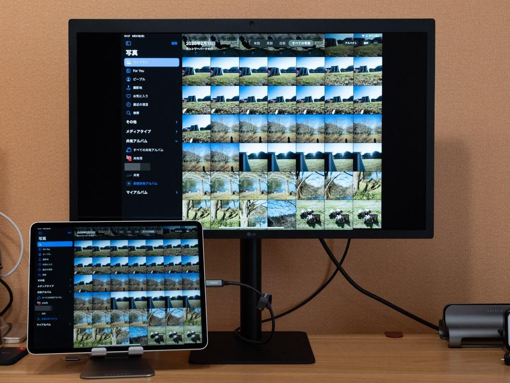 iPadを外部ディスプレイに接続