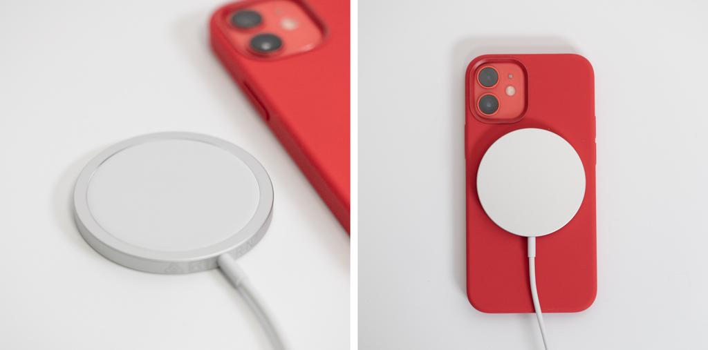 MagSafe充電器でiPhone 12 miniを充電