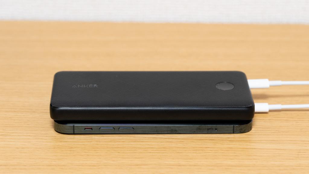 Anker PowerCore Slim 10000 PDでiPhone 12 Proを充電