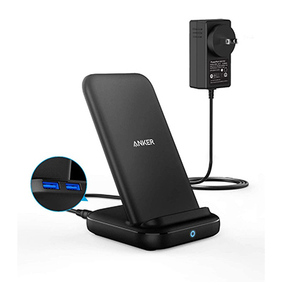 Anker PowerWave 10 Stand with 2 USB-A Ports iPhone ワイヤレス充電器