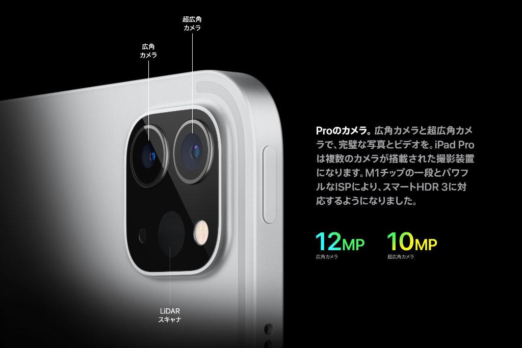 iPad Pro搭載の2眼カメラ