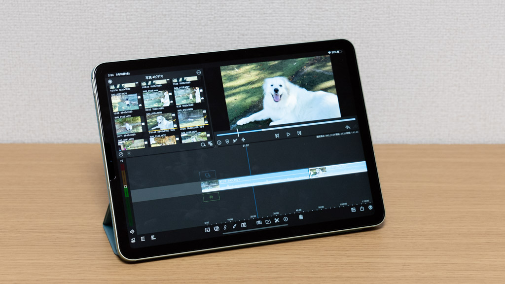 iPad Airで4Kビデオを編集(LumaFusion)