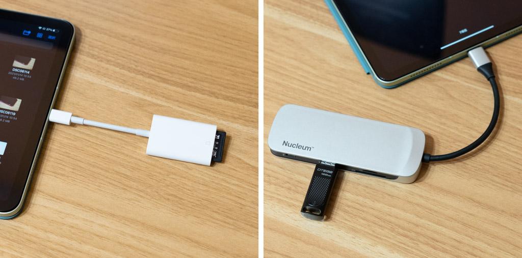 iPadのUSB-Cポートに外部ストレージを接続